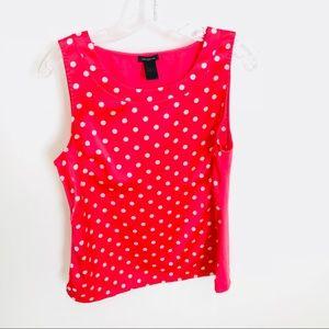 Ann Taylor Polka Dots Blouse Top Size M